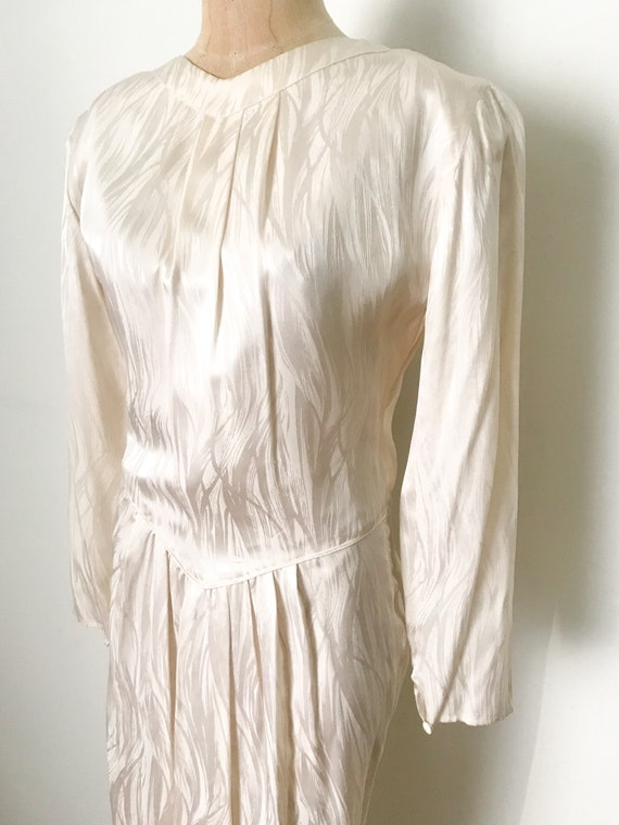 Vintage wedding dress, vintage silk dress, silk w… - image 5