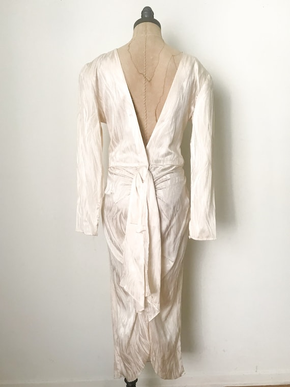 Vintage wedding dress, vintage silk dress, silk w… - image 3