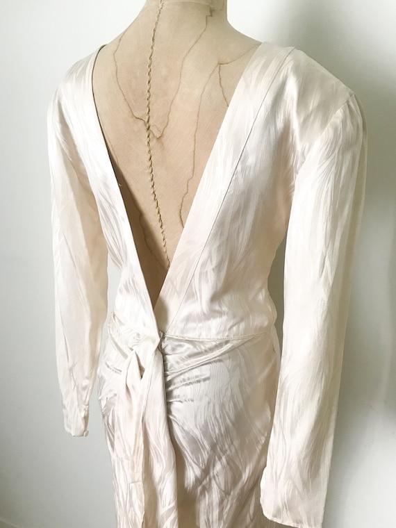Vintage wedding dress, vintage silk dress, silk w… - image 7