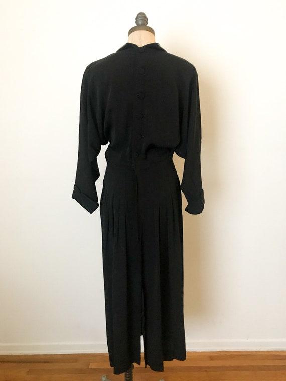 vintage 40s dress - 40s rayon dress - vintage 194… - image 4