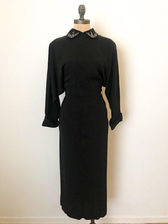 vintage 40s dress - 40s rayon dress - vintage 194… - image 8