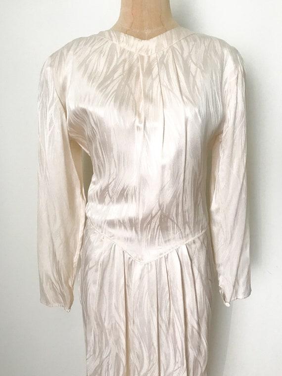 Vintage wedding dress, vintage silk dress, silk w… - image 4