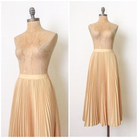 vintage pleated skirt - 70s pleated skirt - 1970s