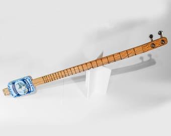 Miniature Altoids tin 2-string guitar acoustic / electric