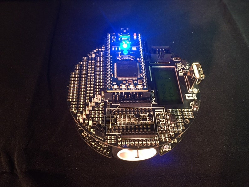 Pololu m3pi Robot + mbed NXP LPC1768 Development Board Combo