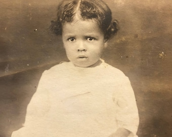 African American Young Girl Real Photo Postcard RPPC