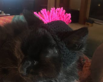Pink Mohawk Hat for Cat