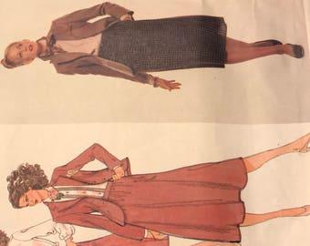 Rare, Vogue Calvin Klein Pattern 1791, Size 14