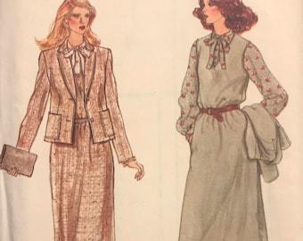 FF, UNCUT, Vintage VOGUE Sewing Pattern 7180, Size D (12-14)