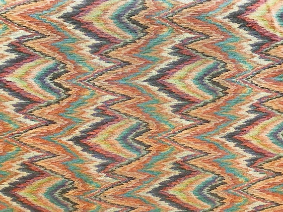 Flame Stitch Upholstery Fabric 54 Wide Sold By The Etsy