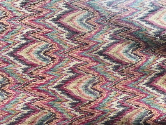 Gorgeous Flame Stitch Upholstery Fabric 54 Wide Sold Etsy