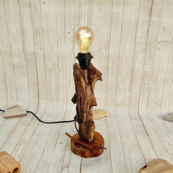 Driftwood lamp Rustic home decor Rustic