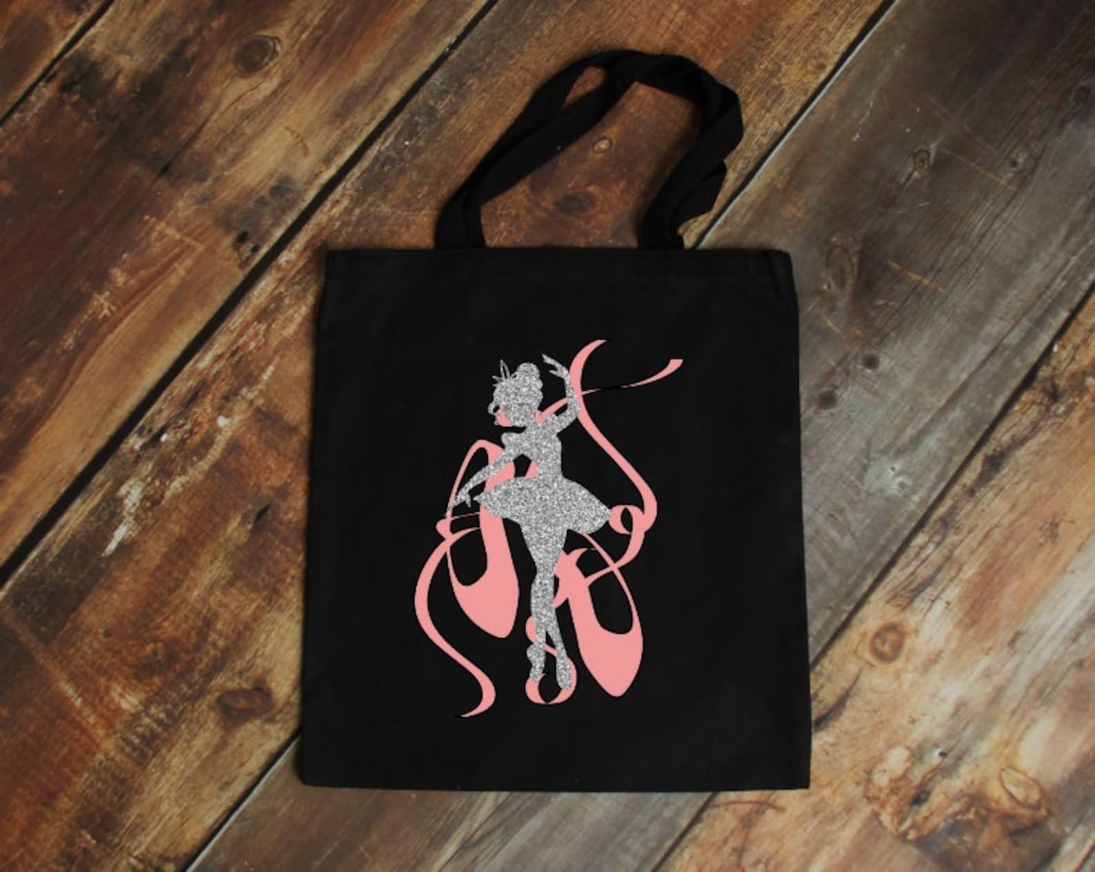 ballet bag, ballet clothese bag, ballerina tote bag, bag for ballet, bag with ballet shoes, little girl tote bag,