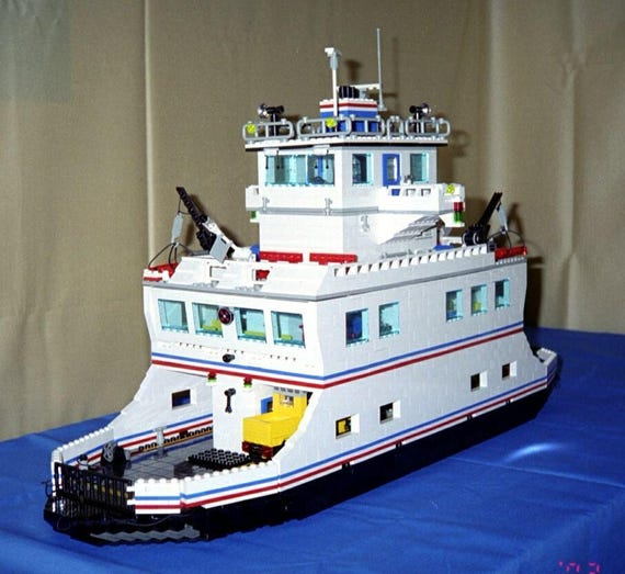 Car Ferry Lego Instructions Downloadable Building Etsy