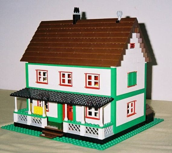 Farmhouse Building Instructions Use Your Own Legos To Build Etsy