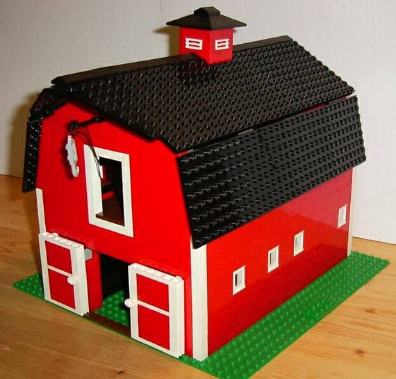 Classic Red Barn Lego Instructions Use Your Own Legos To Etsy