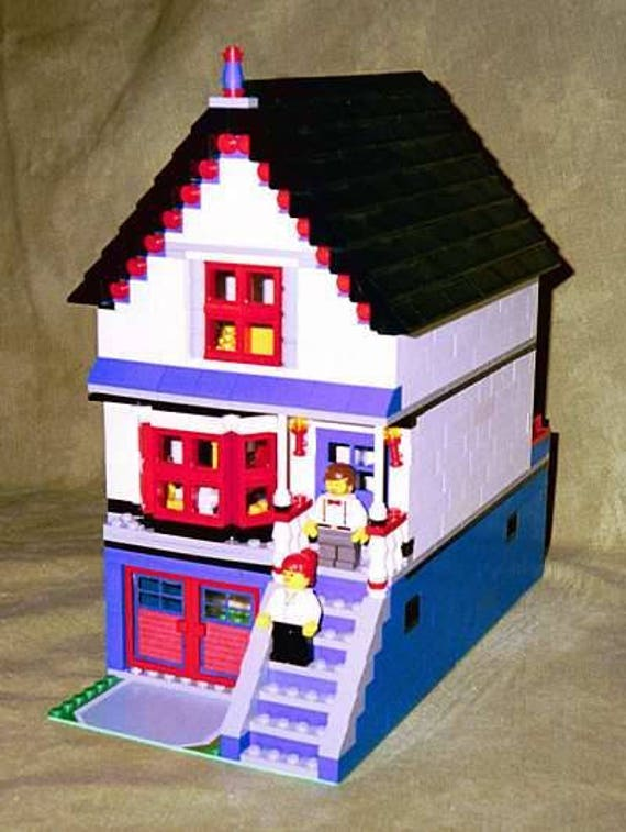 Victorian House Building Instructions Use Your Own Legos To Etsy