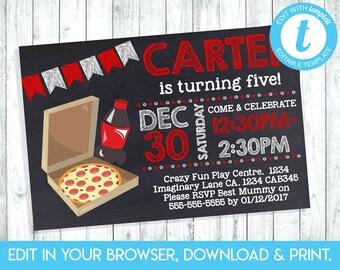 pizza invitation etsy