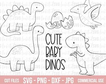 Cute Dinosaur Svg Etsy