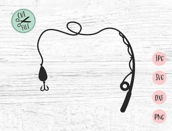Fishing Rod Svg Fish Svg Fishing Svg Dad Svg Fisherman Svg Fathers Day Svg Fishing Clipart Svg Files For Cricut Fish Hook Svg Fish1 By Invitid Catch My Party