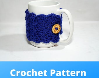 Wrap Me Up Mug Cozy   Crochet Pattern   Crochet Cozy Pattern   Crochet Drink Pattern   Knit Pattern