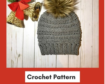 Crochet Pattern  Snoh Beanie  Crochet Hat pattern   Crochet Beanie Pattern  Hat patterns 