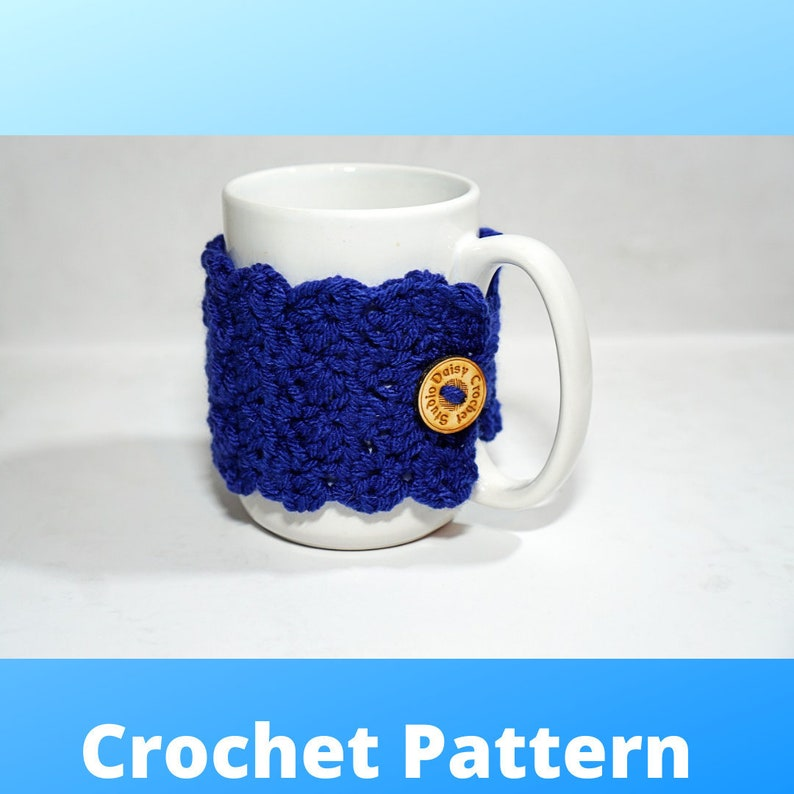 Wrap Me Up Mug Cozy  Crochet Pattern  Crochet Cozy Pattern  image 1