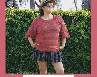 Karen Raglan Crochet Pattern   womens crochet pattern   sweater pattern   t shirt pattern  Knit sweater pattern   crochet shirt pattern