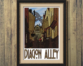 "Diagon Alley 13"" x 19"" Travel Poster"
