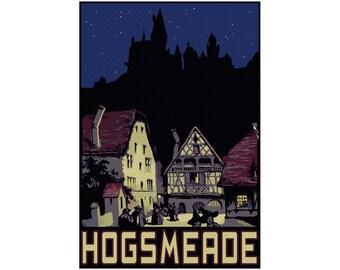 "Hogsmeade 13"" x 19"" Travel Poster - Potterverse"