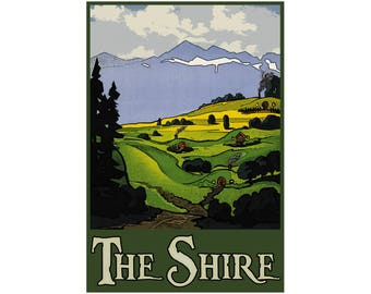 """Shire 13"""" x 19"""" Travel Poster"""