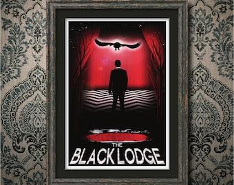 "Black Lodge 13"" x 19"" Travel Poster - Twin Peaks"