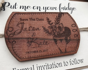 Personalized magnet Save The Date  Magnet Save the Date Gifts For Guests Wedding magnet Rustic Wedding Invites  Rustic Invites love wedding
