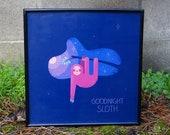 Goodnight Sloth *Framed Print