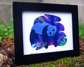 Sleepy Panda *Framed Print