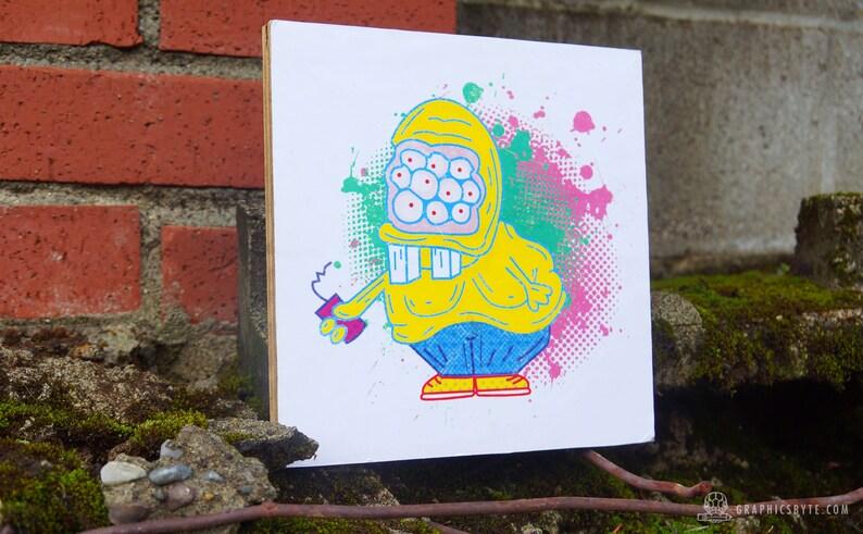 Slurpee Monster Wood Print image 0