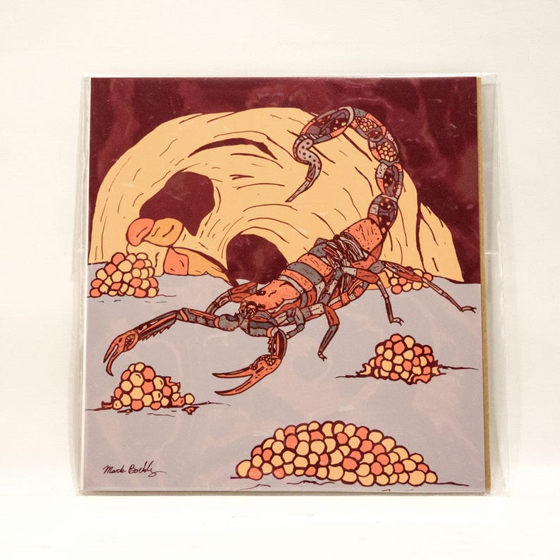 Lava Scorpion Print image 0