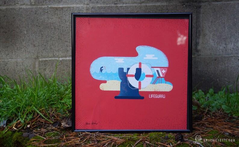 Lifeguard Framed Print image 0
