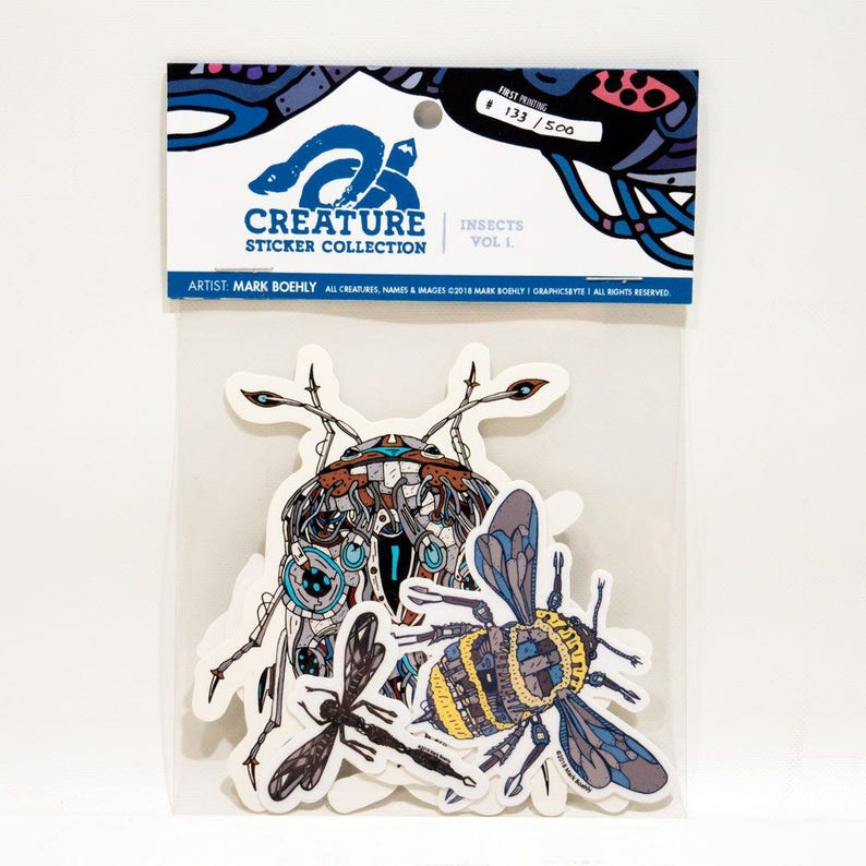 Creature Collection Insects Vol. 1 Sticker Pack image 0
