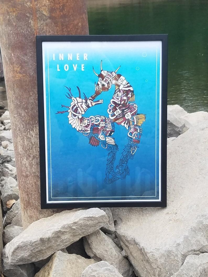 Inner Love Seahorses Framed Print image 0