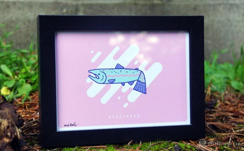 Steelhead Salmon Framed Print image 0