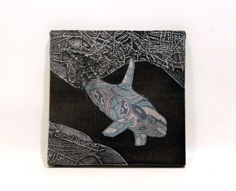 Killer Whale Frozen In Karbon Kast Original Sculpture image 0