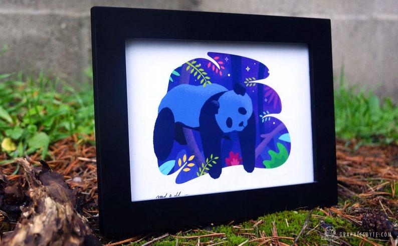 Sleepy Panda Framed Print image 0