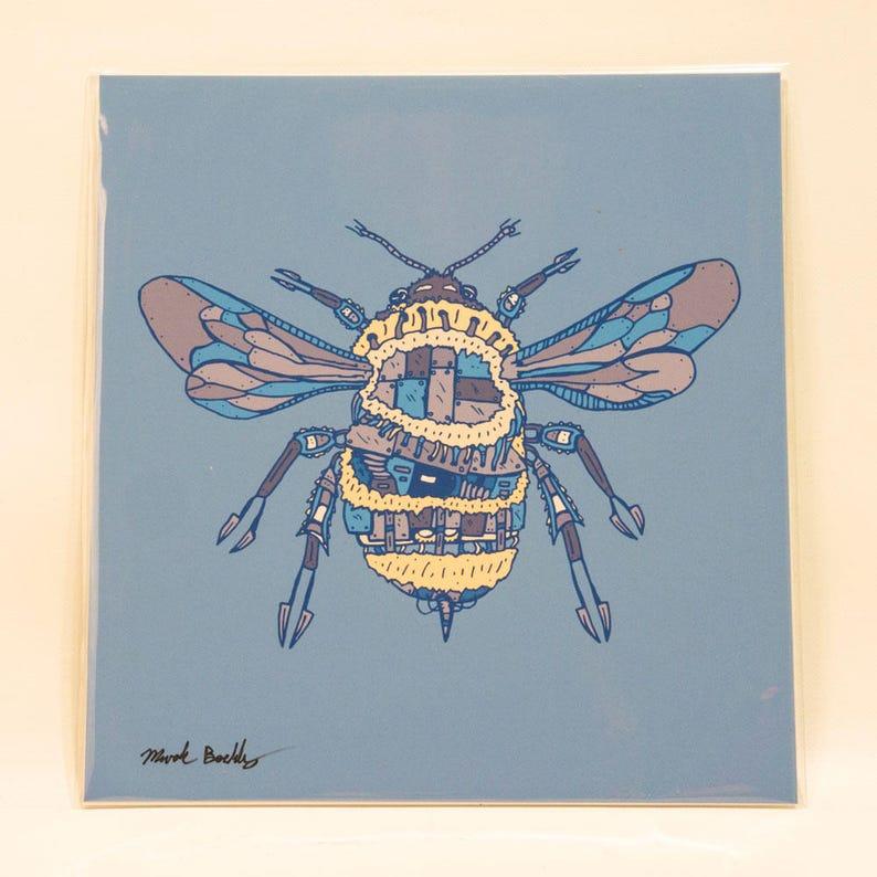 Biomechanical Bumblebee Print image 0