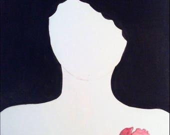 Self portrait- original watercolor