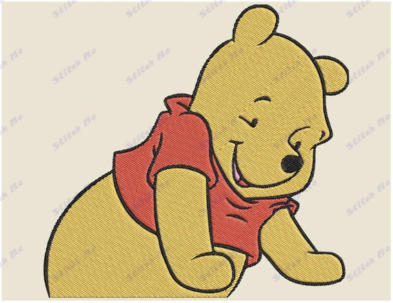 Winnie The Pooh Filled 03 Embroidery Design Instant Download Etsy