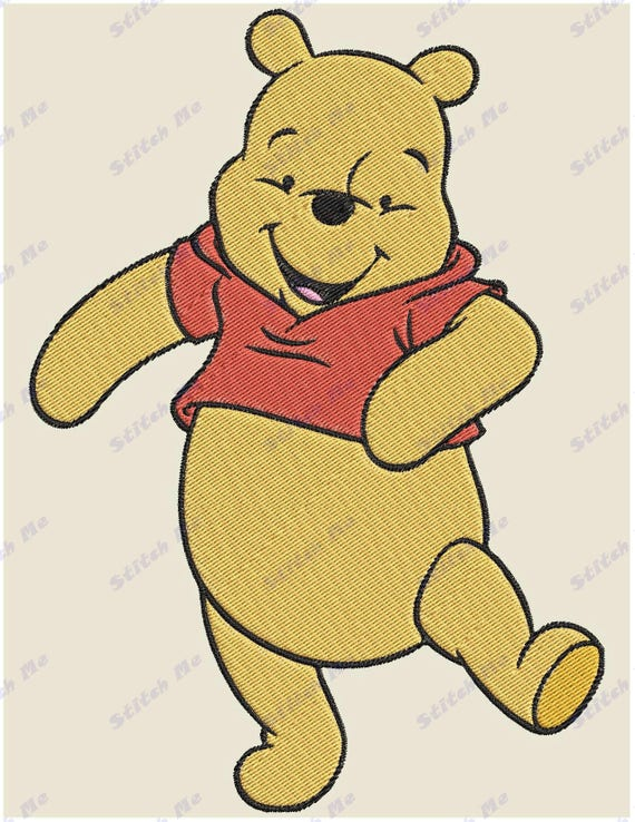 Winnie The Pooh Filled 05 Embroidery Design Instant Download Etsy