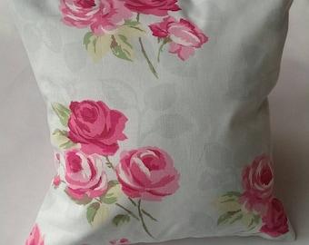 Floral Duck Egg Cushion