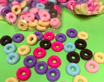 15pcs Froot Loops Charms, 16mm