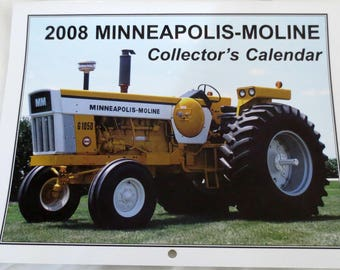 "New ""2008 Minneapolis-Moline Collector's  Calendar""  Featuring: Cover Tractor 1970 Minneapolis-Moline G1050"